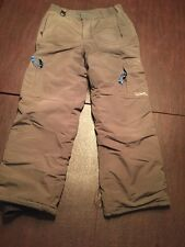 QUIKSLIVER Men's Large Green Snowboard Ski Winter Pants W/ 6 Pockets. TL7