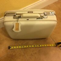 VIntage Antique American Tourister White Luggage Suitcase