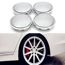 4x 65mm ABS Chrome Car Wheel Center Caps Tyre Rim Hub Cap Cover For VW Silver