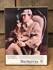 RARE Vintage Burberry Clothing Store Counter Top Display Sherlock Holmes WOW