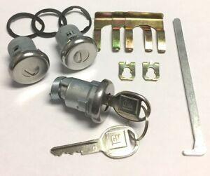 NEW 1972-1976 BelAir, Biscayne, Caprice & Impala  Door & Trunk Lock set- GM Keys