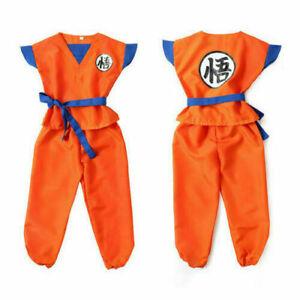 Kids Anime Dragon Ball Z Son GoKu Cosplay Costume Outfit Halloween Gift
