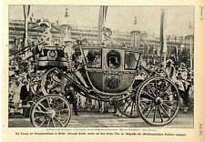 Einzug der Kronprinzenbraut in Berlin: Herzogin Cecilie in der Kutsche c.1905