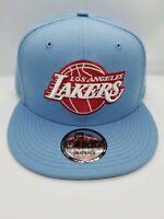 NEW ERA 9FIFTY SNAPBACK HAT.   NBA.  LOS ANGELES LAKERS.   SKY BLUE.