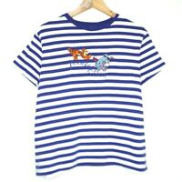 Disney Store Eeyore Tigger Embroidered Womens Striped T-Shirt Size XL