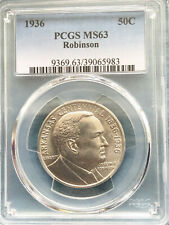 1936 Robinson/Arkansas MS 63 PCGS Certified Commemorative Half Dollar