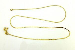 Vintage 14K Yellow Gold Herringbone Necklace/Chain Not Scrap
