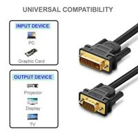 2M DVI 24+5 DVI-I Dual Link to VGA Cable Digital Video 1080P for Gaming HDTV UK