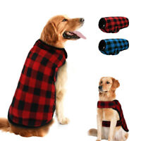 Winter Warm Dog Coats Small Large Pet Labrador Clothes Jacket Plaid Vest S-XXL