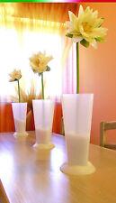 VASO TAVOLA cucina sala portafiori sottovaso plastica piedistallo centrotavola