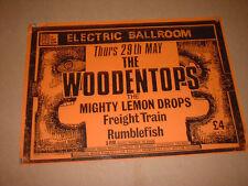 original POSTER 1986 ELECTRIC BALLROOM WOODENTOPS RUMBLEFISH MIGHTY LEMON DROPS