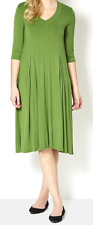 Join Clothes V Neck Pleat Detail Dress - Cactus - Large