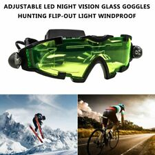 Adjustable LED Night Vision Glass Goggles Hunting Flip-out Light Windproof KW