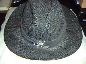 vintage golf lynx straw fedora sun hat made by cali fame made in usa