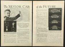 """William Stout """"The Motor Car of the Future"""" 1932 pictorial Streamline Scarab"""