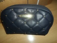 Versace 19v69 Italia Cosmetic Bag NWT Quilted with Gold Accents - Blue/Gray