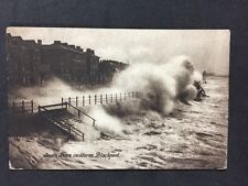 Vintage Postcard: Lancs: Blackpool #T59: South Shore In Storm: Posted