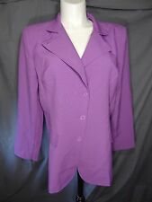 Metrostyle long sleeve purple jacket pant suit plus size 18