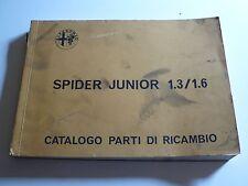 ALFA ROMEO SPIDER JUNIOR 1.3/1.6 - Pezzo di Ricambio-catalogo, 8.1972, 184s, 5 multilingue