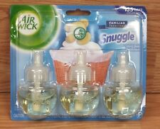 Air Wick Scented Oil Snuggle Fresh Linen Fragrance Pack of 3 Plug in Refills