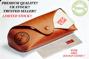 New Ray Ban Brown Sunglasses Case & Free Cloth!!