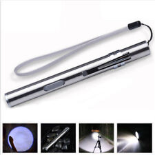 500lm Pen Size Q5 Cree Lamp Flashlight LED Pocket Mini Torch USB Rechargeable