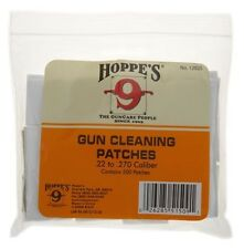 New Hoppe's Gun Cleaning Patch for .22 - .270 Caliber, 500 Pack, Poly Bag 1202S