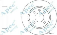 1x OE Quality Replacement Front Axle Apec Solid Brake Disc 4 Stud 236mm - Single