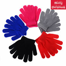 Children Gloves & Mittens Girl Boy Kids Stretchy Knitted Winter Warm Glove Accs
