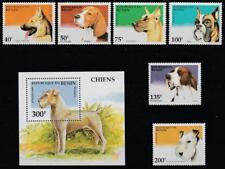 BENIN DOGS 1995 Mi.675-80,Bl.12 MNH SET + SOUVENIR SHEET