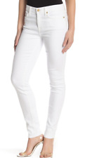 7 For All Mankind Gwenevere White Frayed Destroyed Skinny Ankle Jeans Size 4  27