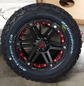 Tuff T01 9x18 6x139,7 Felgen + Reifen BF Goodrich KO2 265/65/18 für Ford Ranger