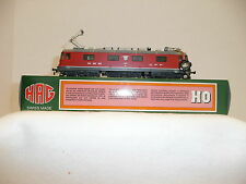 "HAG HO DC 208 SBB Re 6/6 red ""Sonceboz-Sombeval"" electric locomotive. NIB"