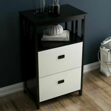 Office Lateral Vertical 2 Drawer Filing Cabinet With Open Compartment Storage Us