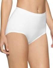 Ladies Size 12-14 Light Control Knickers Panties Briefs Seamless Stretchy White