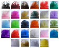 29cm; Eleganza; Sheer Organza; Material; Fabric; 26 Shades; 4 Lengths from £1.65
