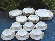 Rare ZYLSTRA Japan (42 Pc) AUTUMN GOLD Handcrafted Porcelain Dinner Set Aust