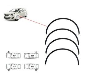 Vauxhall Corsa D wheel arch trims 4 pcs Black front rear wing styling kit '06-14
