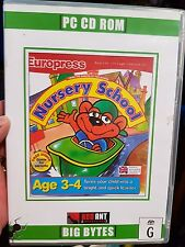 Europress Nursery School  (ages 3-4) - PC GAME - FREE POST