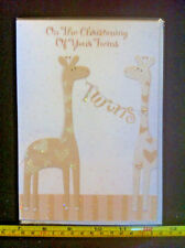 On The Christening Of Your Twins Card & Envelope New