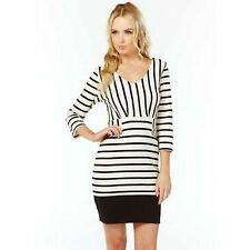 Striped Long Sleeve Knee Length Wiggle, Pencil Women's Dresses