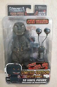 Godzilla Limited Edition NECA Gift Set Bundle Head Set