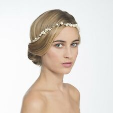 *MAISON MICHEL* Pearl Pearls Chain Hairband Bridal Wedding Tiara