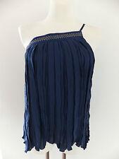 Patrizia Pepe Top Shirt Bluse - blau - Nieten - 38 - neu mit Etikett