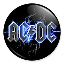 """AC/DC 25mm 1"""" Pin Badge Button ACDC Artwork Malcolm Young Hard Rock & Roll"""