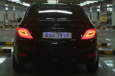 SuperLUX New LED Tail Lights Lamp Assy For 11~2014 2015+ Hyundai Accent Solaris