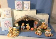 CHERISHED TEDDIES HALLOWEEN/HARVEST FIGURINES WITH BOXES & PAPERWORK