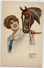 RAPPINI Donnina con Cavallo Horse Lady PC Circa 1915