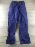 Columbia Vintage 90s Blue/Purple Nylon PVC Rain  Waterproof Pants Women's Large