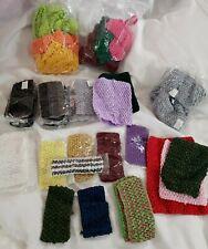 90 Pieces Mixed Lot of Chest Wrap Girl Elastic Tutu Tube Top, Crochet Headbands